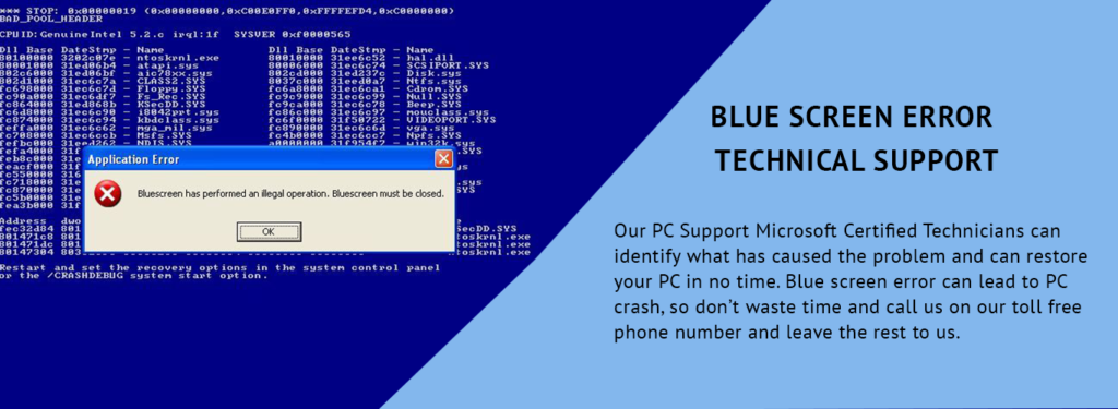 BLUE SCREEN ERROR TECH SUPPORT