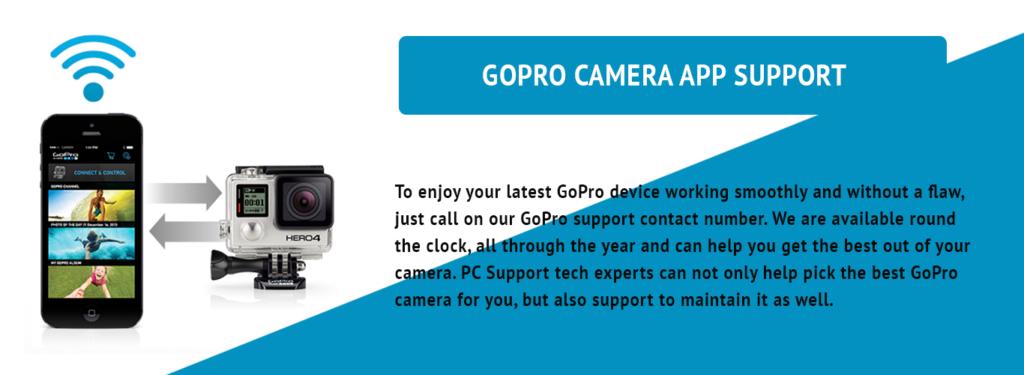 GOPRO CAMERA APP TECH SUPPORT